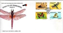 ZIMBABWE, FDC, Insects  /   Lettre De Première Jour;  1995 - Insekten