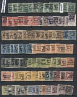 USA 1908-1919 Washington Franklin Precancels T&C Assortment, Massachussetts 4 Scans - Stamps