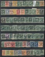 USA 1908-1919 Washington Franklin Precancels T&C Assortment, Indiana 6 Scans - Stamps