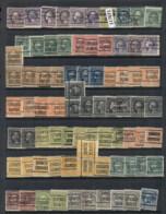 USA 1908-1919 Washington Franklin Precancels T&C Assortment, Illinois 3 Scans - Stamps