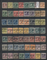 USA 1908-1919 Washington Franklin Precancels T&C Assortment, California 4 Scans - Stamps