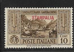 Italy Aegean Islands Stampalia Scott # 17 Mint Hinged Italy Garibaldi Stamp Overprinted, 1932 - Aegean (Stampalia)