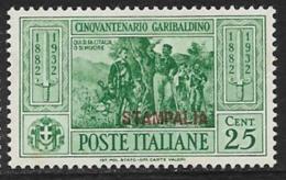 Italy Aegean Islands Stampalia Scott # 19 Mint Hinged Italy Garibaldi Stamp Overprinted, 1932 - Aegean (Stampalia)