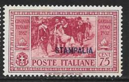 Italy Aegean Islands Stampalia Scott # 22 Mint Hinged Italy Garibaldi Stamp Overprinted, 1932 - Aegean (Stampalia)