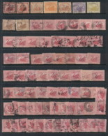 WA 1860's On Assorted Oddments, Duplicates, Interest For Postmarks, Perforations, Shades & Watermark Varieties,  (faults - Stamps
