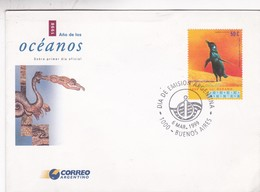 1998 AÑO DE LOS OCEANOS. FDC 1999 BUENOS AIRES, ARGENTINE- BLEUP - Environment & Climate Protection
