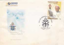 HOMENAJE A S.S. JUAN PABLO II. FDC 2005 ITUZAINGO, ARGENTINE- BLEUP - Popes