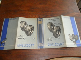 PROTEGE-LIVRE PUB  / PNEUS ENGLEBERT /  LIBRAIRIE  AUX 100.000 LIVRES  / RUE DU PONT 32  / LIEGE - Protège-cahiers
