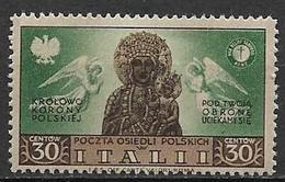 ITALIA OCCUPAZIONE DEL CORPO  POLACCO 1946 SOCCORSO DI GUERRA SASS. 19 MLH VF - Italy