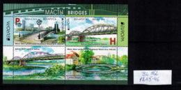 E01 Belarus 2018 EUROPA 2018 (Bridges). S/S Of 2v: H, P Mi BL162(1245-46) Postfrisch - Belarus