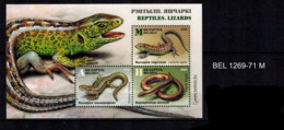 E01 Belarus 2018 Reptiles. Lizards. S/S Of 3v: AMH Mi Postfrisch - Belarus
