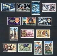 ASCENSION: Yvert 139/52, Space Exploration, Complete Set Of 14 Values, Excellent Quality! - Ascension