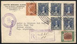 GUATEMALA: Registered Cover Sent To Argentina On 18/JA/1942, Nice Franking, VF Quality! - Guatemala