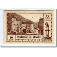 Billet, Autriche, Weiten N.Ö. Prv. Fr. Gruber, Gastwirt, Al. Lehner, Gastwirt - Autriche