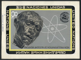UNITED NATIONS: Sc.227, 1972 Nuclear Weapons, Unadopted ARTIST DESIGN, By Angel Medina M. (of Uruguay), Size 220 X 165 M - Timbres