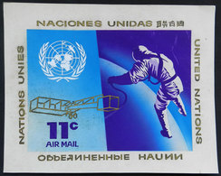 UNITED NATIONS: Unadopted ARTIST DESIGN Of A Stamp Of 11c., Year 1972, Topic SPACE, By Angel Medina M., Size 280 X 225 M - Timbres