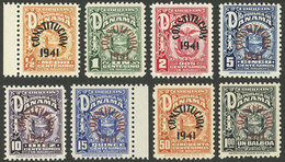 PANAMA: Yvert 228A/228H, 1941 New Constitution, Cmpl. Set Of 8 Mint Values (almost All MNH, One With Tiny Hinge Mark), V - Panama