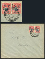 """PERU: """"Sc.200a, 1916 10c. On 1S., Pair, One With """"VALF"""" Error, Franking A Cover Used In Arequipa, Excellent!"""" - Peru"""