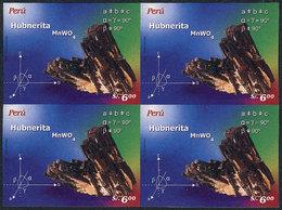 PERU: Sc.1514, 2006 Rocks And Minerals (hubnerite), IMPERFORATE BLOCK OF 4, Very Fine Quality, Rare! - Peru
