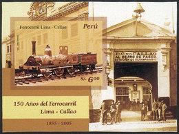 PERU: Sc.1525, 2006 Lima-Callao Railway, IMPERFORATE, VF Quality, Rare! - Peru