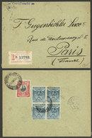 PERU: 12/JUN/1905 Lima - Paris, Registered Cover Franked With 22c. (12c. Single Rate + 10c. Registration), Very Nice! - Peru