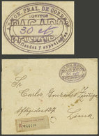 """PERU: """"RARE MARKING: Cover Sent From IQUITOS To Lima In 1905 Without Postage Due To A Brief Shortage Of Stamps, Instead  - Peru"""
