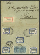 PERU: DE/1905 Lima - Paris, Cover With Stamps That Total 70c. (10c. Registration + 60c. Postage), With Arrival Mark Of 2 - Peru