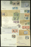 PERU: 12 Covers + 2 Fronts Used Between 1906 And 1912, Varied Postages And Destinations, Fine To Very Fine General Quali - Peru