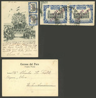 PERU: 1/MAY/1907 Mollendo - USA, Very Nice PC With View Of Corpus Festival - Cuzco, Mailed With The Corresponding 4c. Po - Peru