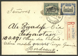 PERU: 5/JUL/1905 Lima - France, Registered Cover Franked With 32c. (10c. Registration Fee + 22c. Postage), Very Nice! - Peru