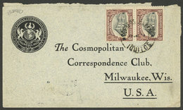 PERU: Circa 1908 IQUITOS - USA, Cover Franked With 20c. And Not The Usual 22c., Because Letters From The Iquitos Post Of - Peru
