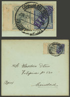 PERU: EXPRESS Cover Used In Lima On 29/JUN/1909, Franked With 1c. Definitive Stamp + Express Stamp Sc.E3, Very Fine Qual - Peru