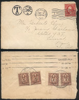 PERU: Cover Sent From USA To Lima On 5/SE/1911 With Insufficient Postage And Due Mark For 30c. Applied At Origin. ON Arr - Peru