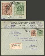 PERU: JUN/1912 Lima - Paris, Registration Cover Franked With 22c., Very Nice! - Peru