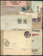 PERU: 6 Covers Sent To European Countries Between 1914 And 1916, All With CENSOR LABELS, Fine To VF General Quality! - Peru