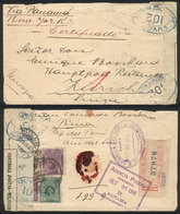 PERU: Registered Cover Sent From Piura To Switzerland In OC/1916 Franked With 22c. (including A Postage Due Stamp Of 10c - Peru