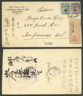 PERU: NO/1920 Lima - San Francisco (USA), Registered Cover Franked With 22c., The Address Of The Sender And Addressee Ar - Peru