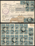 PERU: Dispatch Note For Parcel Post Sent From RECEPTORIA DE LA MERCED (Pasco) To USA With Handsome Postage Of Sc.214 X35 - Peru