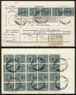 PERU: Dispatch Note For Parcel Post Sent From Huancayo To USA On 11/JA/1924, With Nice Franking Of Sc.214 X25 (total 2.5 - Peru