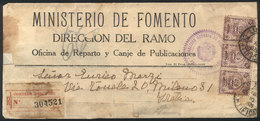 PERU: OFFICIAL Wrapper That Contained Printed Matter Sent By REGISTERED Mail From Lima To Italy On 10/NO/1925 With Offic - Peru