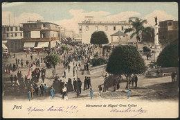 PERU: CALLAO: Monument To Miguel Grau, Circa 1902, Excellent Quality! - Pérou
