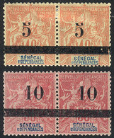 SENEGAL: Yvert 26/27, Mint Pairs Of Excellent Quality! - Senegal (1960-...)