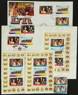 TUVALU: Lot Of Sets And Souvenir Sheets MNH And Used + FDC Covers + Booklet, QUEEN ELIZABETH, All Of Excellent Quality! - Touva