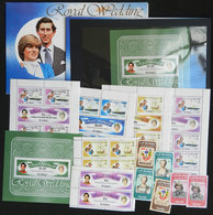 TUVALU: LADY DI: Lot Of Sets And Souvenir Sheets + Mini-sheets + The Set And The S.sheets In Presentation Packs, All MNH - Touva