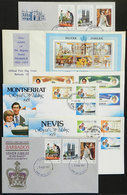 WORLDWIDE: 14 Nice FDC Covers Of Varied British Colonies, Topic Lady Di, Royalty, Etc., Excellent Quality! - Autres - Europe