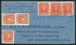 VENEZUELA: AU/1929 Caracas - Los Angeles (USA), Cover Franked With 90c., With Arrival Backstamps, Interesting! - Venezuela