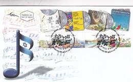 ISRAEL MUSIC, SELECT ALBUMS. FDC 2011 TEL AVIV AVEC BORD DU PLAQUE STAMP A PAIR SE TENANT-TBE- BLEUP - Music