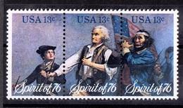 USA, 1976- Spirit Of 1976. Full Set. Stripe. MintNH. - United States