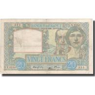 France, 20 Francs, 20 F 1939-1942 ''Science Et Travail'', 1940, 1940-12-05, TB+ - 1871-1952 Anciens Francs Circulés Au XXème