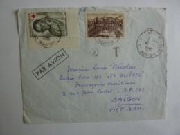 """Lettre Messageries Maritimes CARGO """" LES GLIERES"""" Vers SAISON VIET-NAM Timbres Divers Erinophilie  Déc 2018 Abl 5 - Postmark Collection (Covers)"""